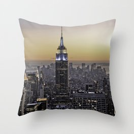 NYC City Scape - New York Photography Throw Pillow