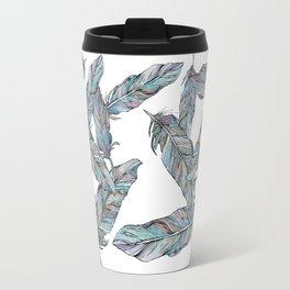 Falling Feathers Travel Mug