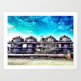 Gas Works Art Print