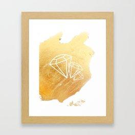 Faceted Gold Framed Art Print