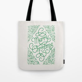Classic Merry Christmas / GREEN Tote Bag