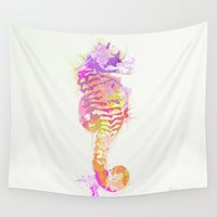 seahorse Wall Tapestries featuring Seahorse by Allison Reich