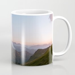 Mountain lake in Germany with Moon - landscape photography Coffee Mug