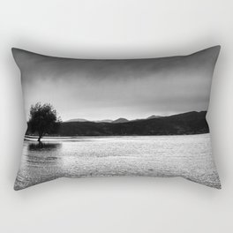 The lonely tree in the sea  Rectangular Pillow