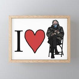 I Heart Bernie Sanders Framed Mini Art Print