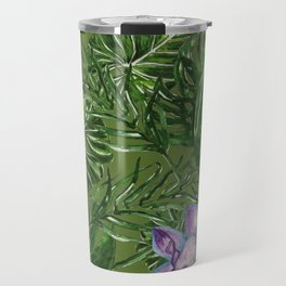 Tropical Pattern Big Leaves Travel Mug