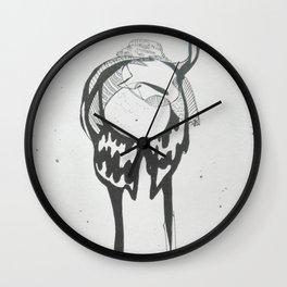 under birds skin Wall Clock