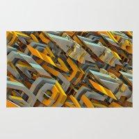 transformer Area & Throw Rugs featuring Transformer Fish by Kunstbehang / Edwin van Munster