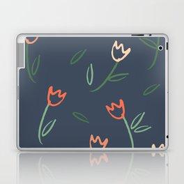 Plants and Petals in Navy Laptop & iPad Skin