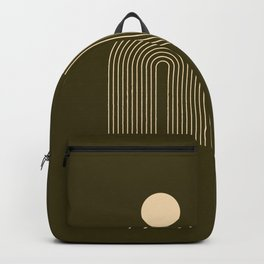 Mid century Modern Rainbow Backpack