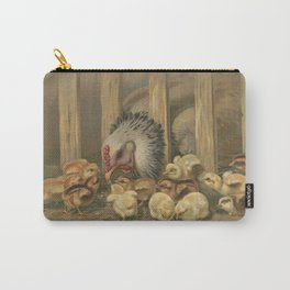 Vintage Chicken & Baby Chicks Painting (1891) Carry-All Pouch