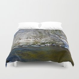 Pacolet River In Snow Duvet Cover