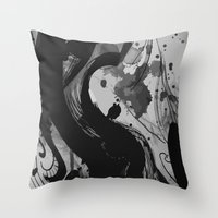 quibe Throw Pillows featuring Ink by Magdalena Hristova