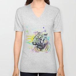 ColorSplash Tiger Unisex V-Neck