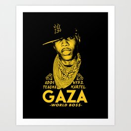VYBZ KARTEL WORLD BOSS Art Print