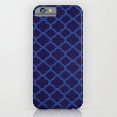 Blue Graphic Flower iPhone 6s Slim Case