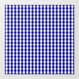 Large Australian Flag Blue and White Gingham Check Canvas Print