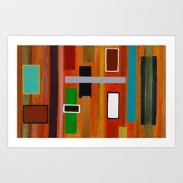 "Windows series ""Orange"" Art Print"