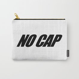 NO CAP Black Minimal Carry-All Pouch