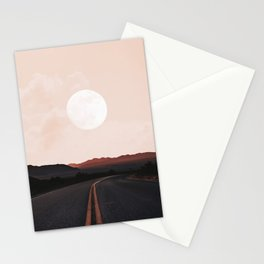 Desert Road Moon Stationery Cards