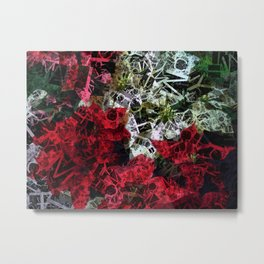 Mixed color Poinsettias 1 Letters 2 Metal Print