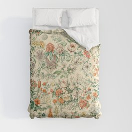 Wildflowers and Roses // Fleurs III by Adolphe Millot 19th Century Science Textbook Artwork Comforters