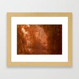 copper Framed Art Print