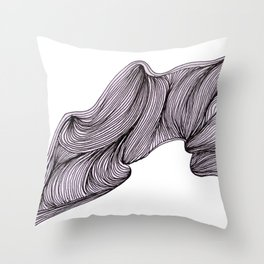 Abstract organic line drawing doodle Throw Pillow