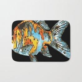 Blue and Orange Shubunkin Goldfish Isolated Bath Mat