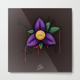 Leaking Flower Metal Print
