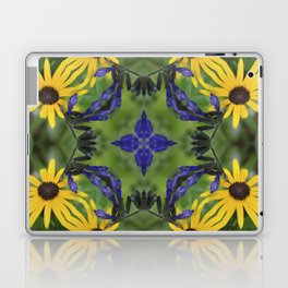 Blue Salvia Compass Points in a Ring of Rudbeckia Laptop & iPad Skin