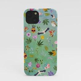 Flamingo Pineapple Pot iPhone Case