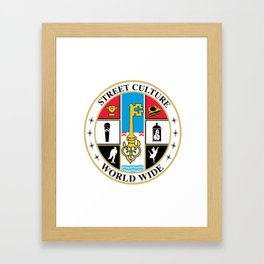 Street Culture Seal Framed Art Print