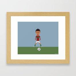 Ronaldo Free kick (Portugal) Framed Art Print