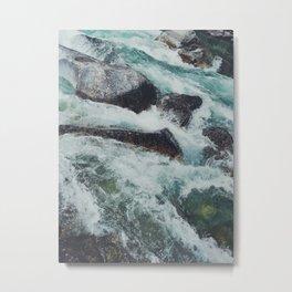 Glacial Rapids Metal Print