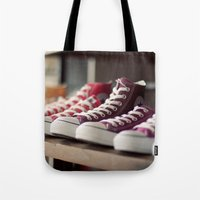 converse Tote Bags featuring Converse by whitney b