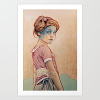 oil Art Prints featuring Within White by Michael Shapcott