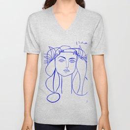 Picasso's Muse Unisex V-Neck