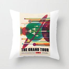 Grand Tour - NASA Space Travel Poster Throw Pillow