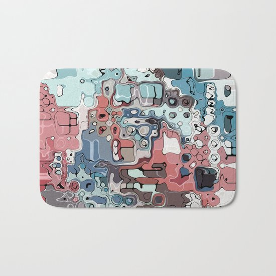 Chaotic Colorful Abstract Bath Mat