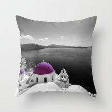 Santorini magenta Throw Pillow