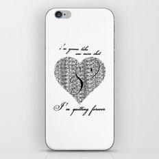 Cross my heart, cross my fingers. iPhone & iPod Skin