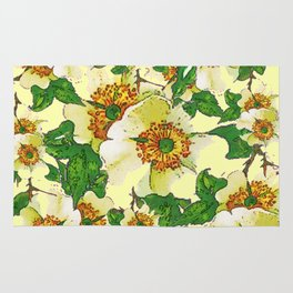 ABSTRACTED APPLE BLOSSOMS PATTERN Rug