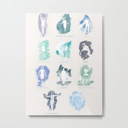 iamamiwhoami; BLUE (with song titles) Metal Print