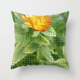 Simple Dotted Flower Throw Pillow