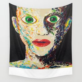 Green Eyes Wall Tapestry