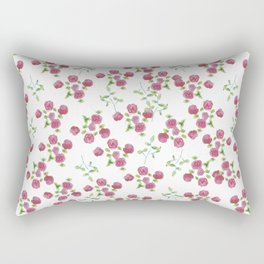 Watercolor roses on white backgroung Rectangular Pillow