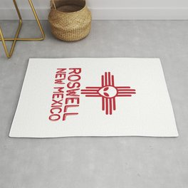 Roswell New Mexico Zia Symbol Rug