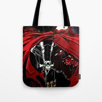 spawn Tote Bags featuring Spawn by Shawn Norton Art