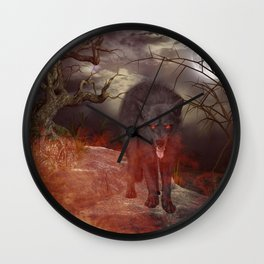 Awesome wolf Wall Clock